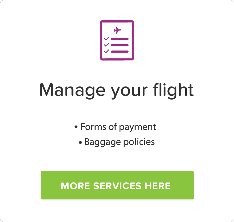 Manage your flight